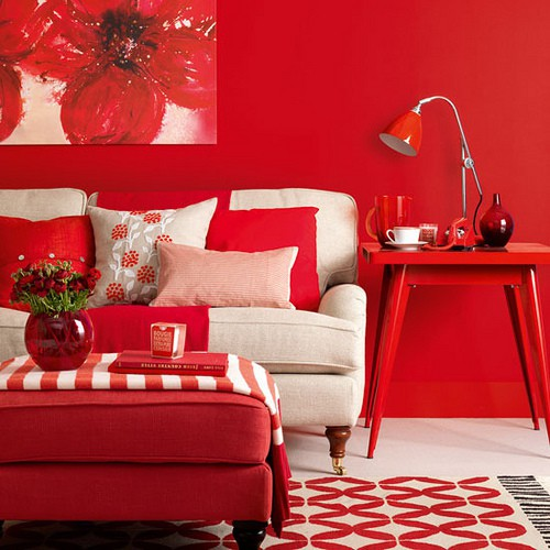 Decoraci n en color rojo y sus combinaciones blog paqsa for Decoracion de interiores color rojo